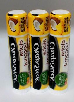 3 CHAPSTICK Skin Protectant Moisturizer ALOHA COCONUT Sealed