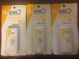 5 X CeraVe Sunscreen Stick SPF 50 0.47 oz with Zinc Oxide Su