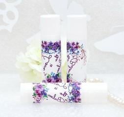 30 Purple Wedding Lip Balm Labels Birthday Floral Favor Stic