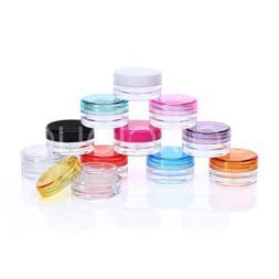3g 5g Round Clear Empty Jars Pot Cosmetic Cream Lip Balm Con