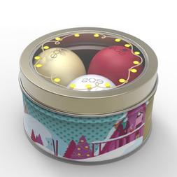 eos 3pc Set Lip Balm Organic First Snow, Fireside Chai & Pom