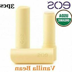 3pcs EOS Lip Balm Stick Sweet Vanilla Bean ORGANIC 100% Natu