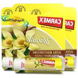 3x Carmex Classic Vanilla Click Stick Ultra Moisturising Dry