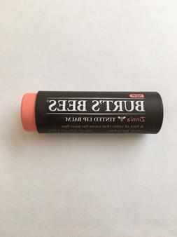 Burt's Bees Zinnia Tinted Lip Balm, 0.15 OZ. Each - New!