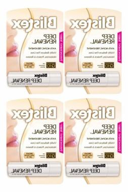 4 Pack Blistex Deep Renewal Anti Aging Lip Balm Protectant S