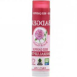 4 Pack Badger Mineral Lip Tint, Red Jasper, Rose & Vanilla,