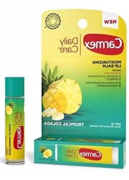 4 PACK CARMEX MOISTURIZING LIP BALM TROPICAL COLADA 0.15OZ C