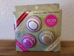 4 Packs EOS Super Soft Shea Lip Balm Kit Limited Edition 3 I