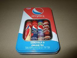 4 Pepsi Flavored Lip Balms~Mug Root Beer, Diet Pepsi, Cherry