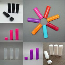 5/50 Pcs Oval Lip Balm Tubes Empty Lipstick Containers DIY C