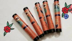 5 Perfectly Posh Caffeinated Lip Balm ZESTY ORANGE & SPARKLI