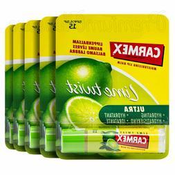 5 x Carmex Lime Twist Lip Balm Click stick SPF15 Ultra Moist
