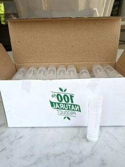 50 Clear Empty New Lip Balm tube+cap BPA Free Chapstick bulk