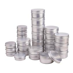 50pcs/lot 5g 10g 15g 20g 30g 40g 50g 60g Aluminum Jars Empty