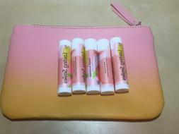 5x Lasting Smiles PEACH BLOSSOM Organic Lip Balm 0.15 oz/4.2