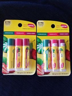 6 Carmex Daily Care Lip Balm SPF15 Cherry Strawberry Winterg