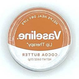 6 VASELINE LIP THERAPY LIP BALM - COCOA BUTTER 0.6 OZ EXP: 1