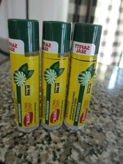 6 Carmex Wintergreen Moisturizing Lip Balm SPF 15 Sealed FRE