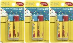 6 Pack~Carmex Cupcake Batter  & Classic Medicated Lip Balm ~