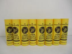 8 COCOCARE 100% COCOA BUTTER THE YELLOW STICK  1 OZ EACH - N