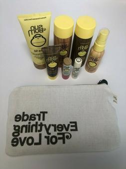 8 Piece Sun Bum Sunscreen Lip Balm Shampoo Conditioner Hair