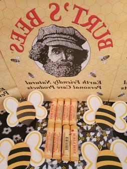 8pk Burt's Bees 100% Natural Moisturizing Lip Balm GREAT DEA