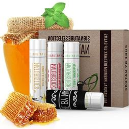 All Natural Lip Balm Gift Set  by Naturistick. Best Beeswax