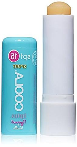 COOLA Liplux Sunscreen Vanilla Peppermint, SPF 15
