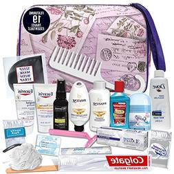 Convenience Kits Women's Premium 20-Piece Necessities Trav