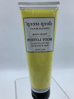 Deep Steep Body Lotion, Lemon Cream, 8 Ounce