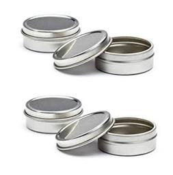 MagnaKoys Empty Slip Slide Round Tin Containers for Lip Balm