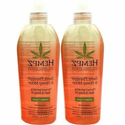 Hempz Hydrating Bath and Body Oil, Off Yellow, Sweet Pineapp