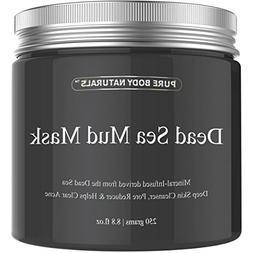 Pure Body Naturals Beauty Dead Sea Mud Mask for Facial Treat