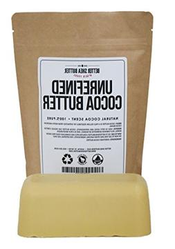 Unrefined Cocoa Butter - Use on Pregnancy Stretch Marks, Mak
