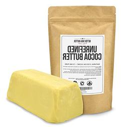 Unrefined Cocoa Butter by Better Shea Butter - Raw & 100% Pu