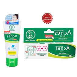 Mentholatum Acnes  Sealing Jell 18 g & Clear & Whitening Fac