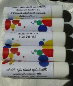All Natural Lip Balm-10 Birthday Cake for KIDS PARTY!! -Disc