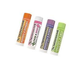 Beessential All Natural Lip Balm Variety 4 Pack with Moistur