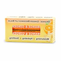 Beessential All Natural Orange Ginger Lip Balm 2 pack