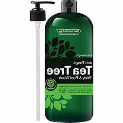 Antifungal Tea Tree Oil Body Wash – HUGE 16 OZ – 100% Pu
