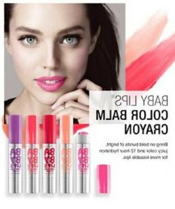 Maybelline New York Baby Lips Color Balm Crayon, 5 Different