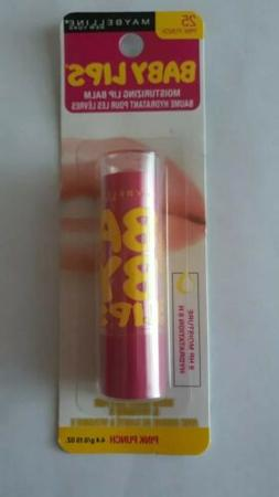 baby lips moisturizing lip balm pink punch
