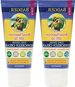 Badger Balm Lavender Sunscreen Cream- SPF 30-2.9 oz 2 Pack