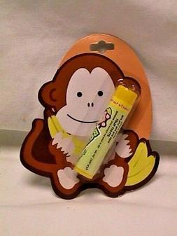 LOTTA LUV -- BANANA Flavor LIP BALM Gloss Cute MONKEY Packag
