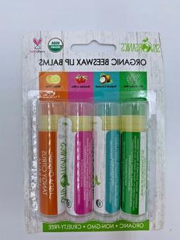 Sky Organics bees wax lip balm 4 pack organic made in USA