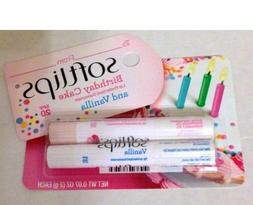 Softlips Birthday Cake and Vanilla Lip Balm - SPF 20 - 2 Pac