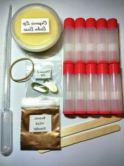 Brown Mica Make Your Own 10 Organic Lip Balm Making Kit Natu