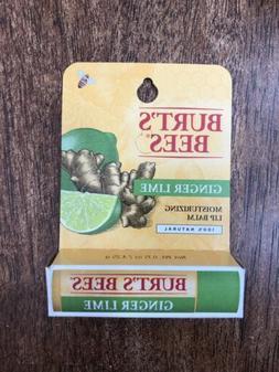 Burt's Bees Ginger Lime lip balm Moisturizing 100% Natural .