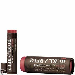 Burt's Bees Hibiscus  Tinted 100% Natural Lip Balm With Case
