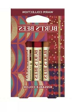 Burt's Bees Kissable Color Holiday Gift Set, 3 Lip Shimmers